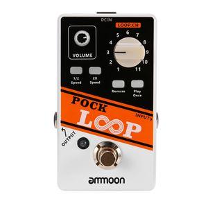 ammoon POCK LOOP Looper Gitarreneffektpedal 11 Loopers Max. 330 Minuten Aufnahmezeit Unterstuetzt 1/2 & 2X Speed Playback Reverse-Funktionen True Bypass