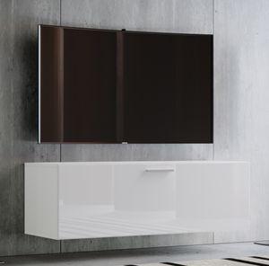 """VCM TV Wand Board Fernsehtisch Lowboard Wohnwand Regal Wandschrank Schrank Tisch Hängend """"Fernso"""" Breite 95cm: Weiß"""