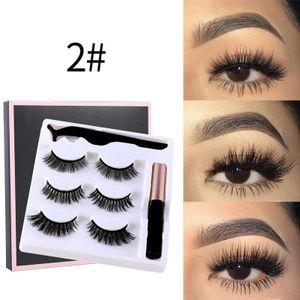 Fortschrittliche magnetische Wimpern und magnetischer Eyeliner, wasserdichter Eyeliner mit 6 vollständigen 3D-Wimpern und Pinzetten , Make-up-Tools