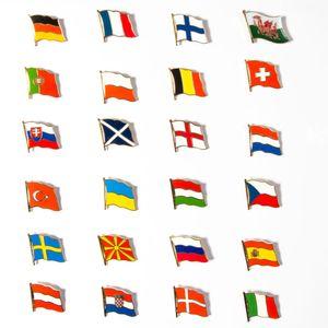 Flaggen Ansteck-pin Set EM 2020/2021