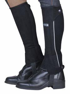 HKM Reitletten -Special- aus WildKunstleder, Farbe:9195 schwarz/grau, Größe:10