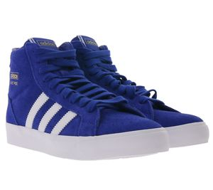 adidas Originals High Top Sneaker Basket Profi coole Basketball-Schuhe für Damen Blau, Größe:37 1/3