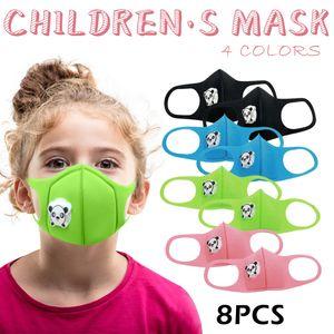 8Pc Kinder Color Mixing Atmungsaktive Waschbare Doppeldeck Schwammmaske