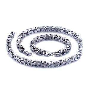 5 mm Königskette Armband Herrenkette Männer Kette Halskette, 80 cm Silber Edelstahl Ketten