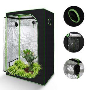 karpal Growbox Beobachtungsfenster Gewaechshaus Growzelt Indoor Pflanzenzelt 120*60*180CM