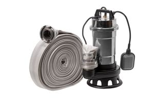 Schmutzwasserpumpe Röhtenbach Fäkalienpumpe 550 W SCHLAUCH 20 30 METER Tauchpumpe Schneidwerk : Ausführung - Pumpe mit 2
