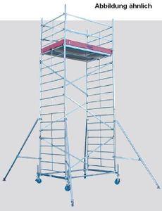 KRAUSE ProTec XXL Alu Fahrgerüst Breitaufbau von 2.90m bis 12.30m AH, Arbeitshöhe:6.30 Meter