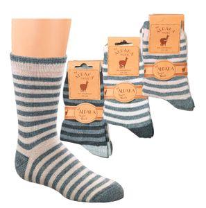 2 Paar Alpaka Söckchen Socken mit Alpakawolle Kinder Gr. 27-30