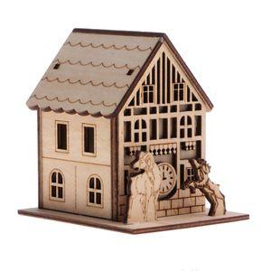 3D Holzpuzzle Haus Modellbau Bau Entwicklung Puzzle Spielzeug