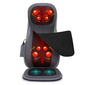 NAIPO Massagesitzauflage Rückenmassagegerät mit drei Massagezonen und Wärmefunktion