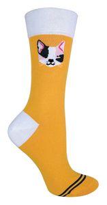 TALKIE - Damen Baumwolle Lustig Bunt Socken mit Hundemotiv und Katzenmotiv für Geschenk