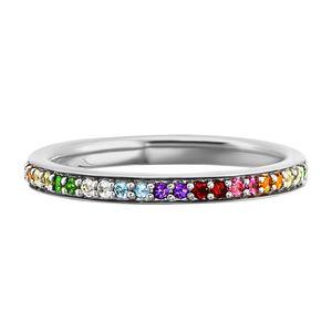 cai Ring 925/- Sterling Silber weiß 058 (18,5) Granat bunt 132270581