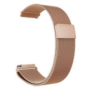 20mm Uhrenarmband Edelstahl Mesh Uhrenarmband Armband Ersatz Kompatibel mit HUAWEI WATCH GT 2 42mm / HONOR MagicWatch 2 42mm