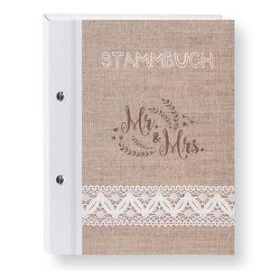 Stammbuch der Familie Lino Stammbücher A5 Familienstammbuch Trauung Stammbaum Hochzeits Eheurkunden Vintage Hochzeit Modern Jute