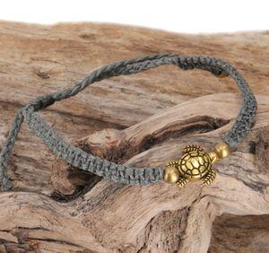 Ethno Schildkröten Perlenarmband, Makramee Armband - Grau, Armreifen & Armbänder Modeschmuck