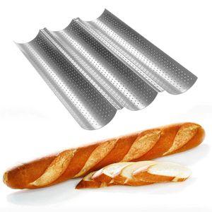 MEIYOU Französisch Brot Form Zum Backen Brot Welle Backblech Praktische Kuchen Pan Baguette Form 2/3/4 Nut Wellen