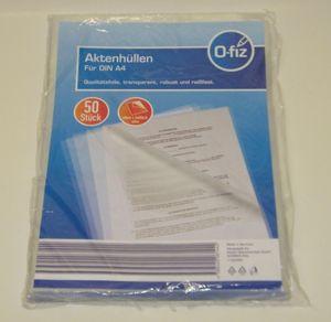Aktenhüllen DIN A4 transparent robust reißfest aus Qualitätsfolie 50 Stück