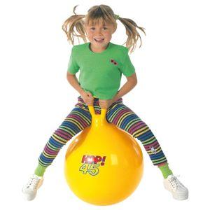 Hüpfball, Sprungball, Hopsball, Springball, Hopser ø 45 cm, gelb