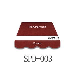 Vana 4x3m Markisenstoff Markisenbespannung Markisentuch mit Volant SPD003