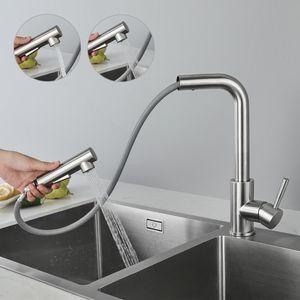Ausziehbar Küche Wasserhahn Mischbatterie, Küchenarmatur mit Brause Zwei Wasserstrahlarten, Spültischarmatur, geeignet nicht Untertischgerät