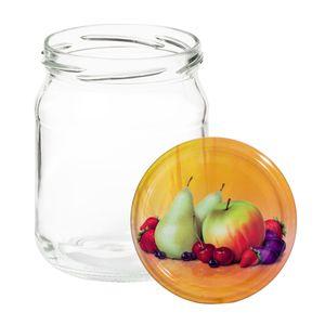12er Set Einkochgläser 500ml Sturzglas Herbst Apfel Deckel + Rezeptheft Einmach Marmelade Gläser