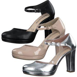 Tamaris Damen Pumps Plateau High Heel 1-24401-35, Größe:38 EU, Farbe:Silber