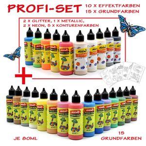 Window Color Profi-Set 25 Farben Fenstermalfarbe Fensterfarbe Malfarbe Glasfarbe