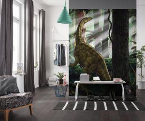 """Komar Vlies Fototapete """"Riojasaurus Forest"""" - Größe: 250 x 280 cm (Breite x Höhe) - 5 Bahnen"""