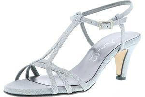 Vista Damen Glitzer Sandaletten silber, Größe:40, Farbe:Silber
