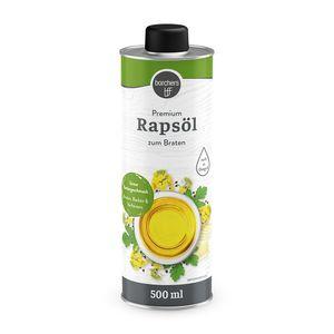 borchers Premium Rapsöl   Feiner Buttergeschmack   Reich an Omega-3-Fettsäuren   Zum Braten und Verfeinern   500 ml.
