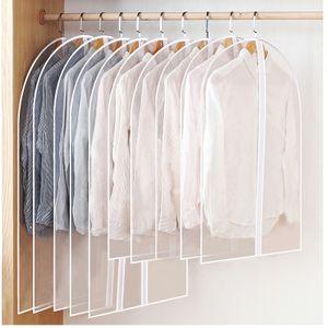 LOZAYI 6 Stück (60 x 100 cm) staubdichte Stoffhülle transparente Kleiderschrank Aufbewahrungstasche Staubdichte Hülle Schutzhülle