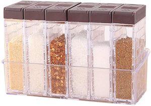 6er Set Salz- und Pfefferstreuer Gewürzbox Kunststoff Camping Gewürzbox für Aufbewahrung Küche Gewürze