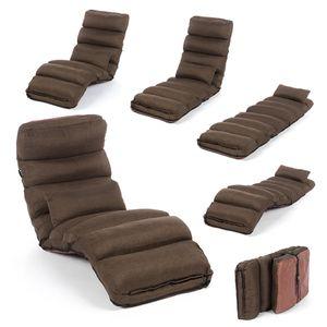 Smarte Relaxliege - Couch, Sessel & Gästebett - Klappmatratze, flexibel klappbare Liege & Gästebett - Braun