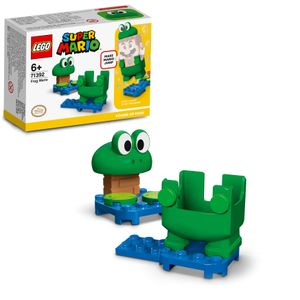 LEGO 71392 Super Mario Frosch-Mario Anzug, Upgrade, Spielzeugkostüm, Für Kinder Ab 6 Jahren, Geschenkidee Sammlerspielzeug