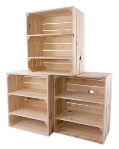 3x Schlichtes Schuhregal aus Holz, unbehandelt, mit zwei Regalböden, indoor / outdoor geeignet, DIY Garderobe, neu, 50x31x61cm