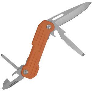 CAMILLUS POCKET BLOCK Taschenmesser, 6,4 cm Titanium Bonded 420 Stahlklinge, G-10 Griff, 5 Funktionen, silber/orange, 15,9 cm, 19652