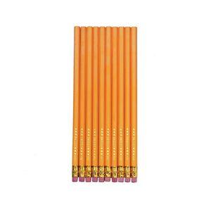 10 Bleistifte mit Radierer / Härtegrad: HB