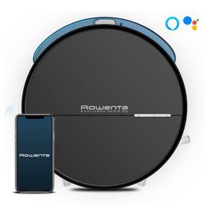 Rowenta Explorer RR745, Beutellos, Schwarz, Rund, 0,4 l, 65 dB, Methodic,Spot,Wall-following