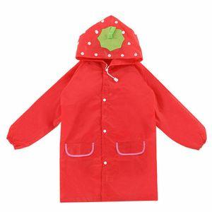 Kinder Regenjacke Regenmantel Regenbekleidung Wind Regen Schutz Anzug mit Kapuze 90-130cm (rot)— QingShop