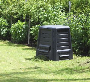 KHW Komposter ohne Boden, anthrazit, Maße (LxBxH): 75 x 75 x 84 cm; 34029