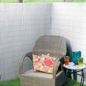 Nature Doppelseitiger Garten-Sichtschutz PVC 1×3 m Weiß