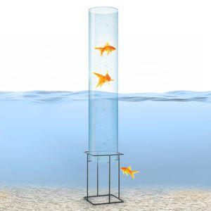 blumfeldt Skydive 100 Fischturm , Fischsäule , Fisch Dome , Goldfisch-Rohr , Fische , Teich-Gestaltung , Teich-Deko , Acrylglas , 127 cm , Wandstärke: 3 mm , Ø 20 cm , witterungsbeständig , UV-beständig , transparent