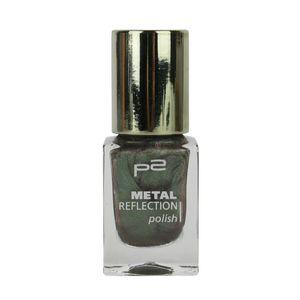 P2 Nägel Nagellack Nagellack Metal Reflection Polish 833907, Farbe: 030 green grunge, 10 ml