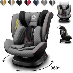 Lionelo Bastiaan One Kindersitz 360° drehbar Autokindersitz mit ISOFIX 0-36 kg Grau-Schwarz