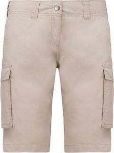 Kariban Damen Cargo-Shorts Bermuda K756 Beige (38)