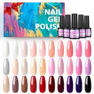 UV Gellack Set, 30 Stücke Gel-Lack,UV/LED Gel-Nagellack-Set Gel Nägel Set Farbgel Maniküre Set Soak-Off Gel Polish Set 7ML