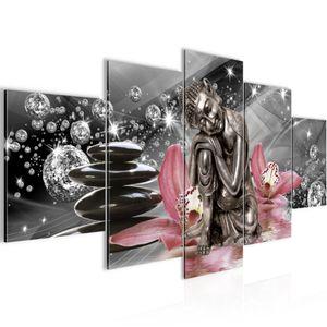 Buddha Orchidee BILD :200x100 cm − FOTOGRAFIE AUF VLIES LEINWANDBILD XXL DEKORATION WANDBILDER MODERN KUNSTDRUCK MEHRTEILIG 505351c