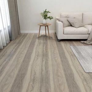 PVC-Fliesen Selbstklebend 55 Stk. Laminat Dielen Bodenbelag | für Wohnzimmer Schlafzimmer Büro 5,11 m² Taupe - 88413