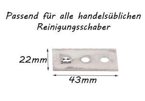 10 Ersatzklingen Klingen Universal für Ceranfeldschaber Kochfeldschaber Reinigungsschaber Schaber