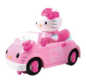 Dickie Toys Hello Kitty Convertible IRC Vehicle, RC Fahrzeug, Ferngesteuertes Auto mit Infrarot Fernbedienung, fährt vorwärts-gerade, rückwärts-Kurve, inkl. Figur, 17,5 cm